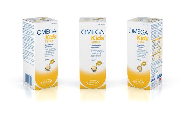 OMEGA KIDS líquido - ORDESA / Ilustración 3D