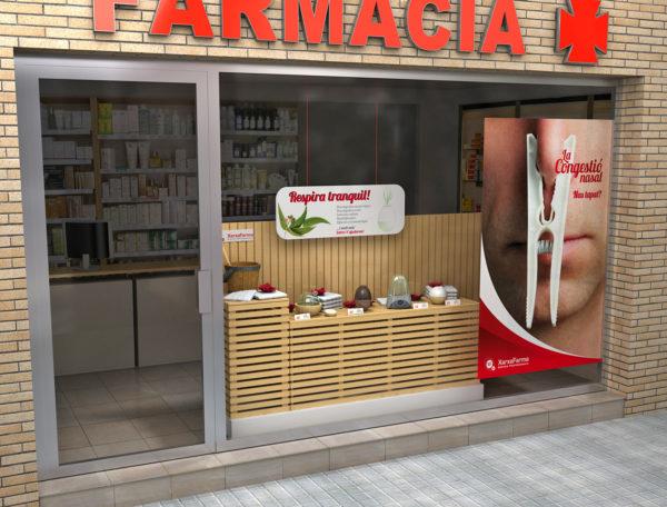 XarxaFarma Aparador Congestión / Ilustración 3D
