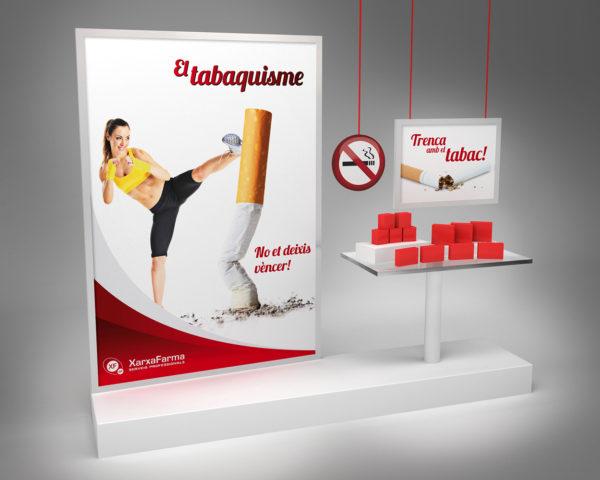 XarxaFarma Aparador Tabaquismo / Ilustración 3D