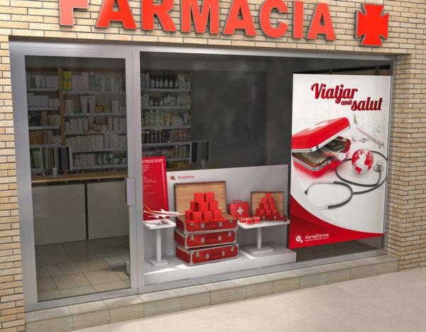 XarxaFarma Aparador Viajes / Ilustración 3D