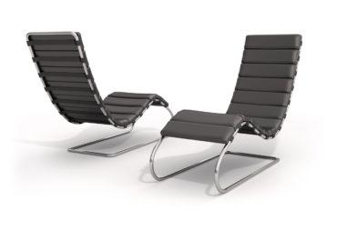 Chaise longue Mies Van der Rohe black - ilustración 3D