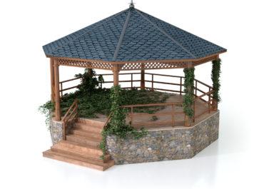 Glorieta - Cenador / Ilustración 3D