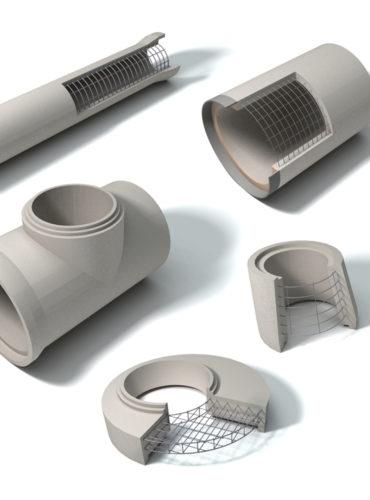 ICA Saneamiento - Cemento aglomerado- Ilustración 3D