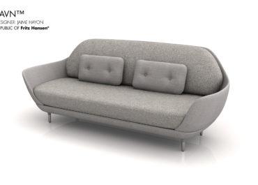 RFH Favin Sofa Grey - Ilustración 3D
