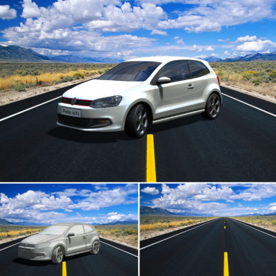 VW Polo Gti - Ilustración 3D