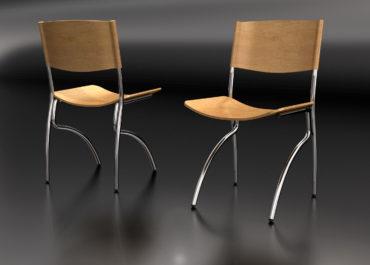 Silla Classroom - Ilustración 3D