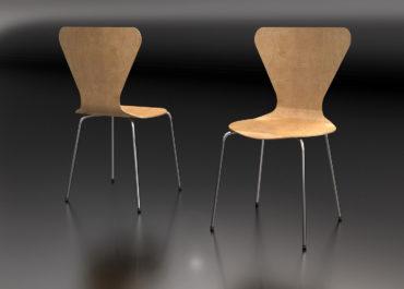 Silla Jacobsen - Ilustración 3D