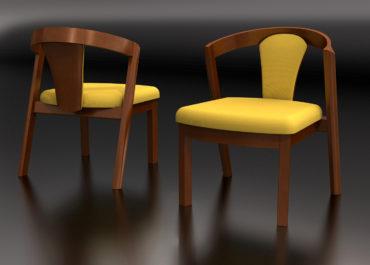 Silla Salon - Ilustración 3D