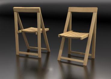 Silla Yug Plegable - ilustración 3D