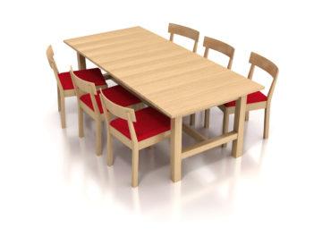 IKEA - Table Norden & Chair Norman / Ilustración 3D