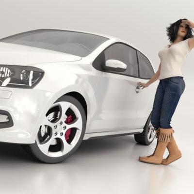 Modelo 3D Volkswagen Polo Gti